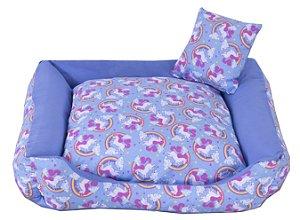 Cama Pet Tricoline Para Cachorro E Gato Tam P Unicolors Azul