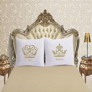 Jogo de Lençol Casal Padrão 3 Peças Fronha Divertida Malha Rei Rainha