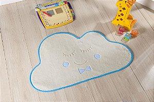 Tapete Formato Baby Antiderrapante Nuvem Azul Turquesa