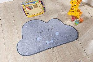 Tapete Formato Baby Antiderrapante Nuvem Cinza e Azul