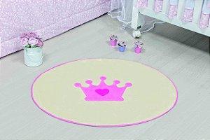 Tapete Formato Baby Antiderrapante Coroa Baby Rosa