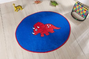 Tapete Formato Baby Antiderrapante Dino Baby Azul Royal