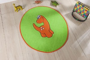 Tapete Formato Baby Antiderrapante Dino Baby Verde Pistache