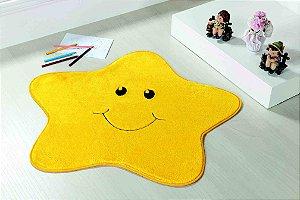 Tapete Formato Feltro Antiderrapante Estrelinha Amarela
