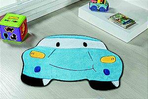 Tapete Formato Feltro Antiderrapante Carro Azul Turquesa