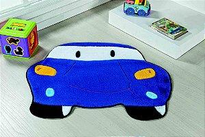 Tapete Formato Feltro Antiderrapante Carro Azul Royal
