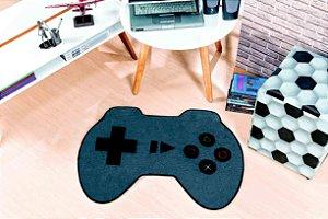 Tapete Formato Feltro Antiderrapante Controle Video Game Cinza