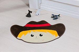 Tapete Formato Feltro Antiderrapante Menino Cowboy Café