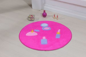 Tapete Formato Feltro Antiderrapante Maquiagem Pink