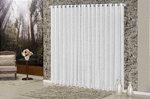 Cortina Quarto Sala Voil Romance Varão 2,00 x 1,70 Branca