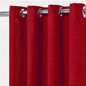 Cortina Rústica Lisa 2,80 m x 1,60 m - Vermelho