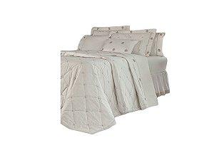 Cobre Leito Cecile 200 Fios 100% algodão Queen 4 peças Palha