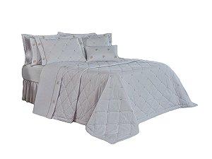 Cobre Leito Cecile 200 Fios 100% algodão King 4 peças Branco