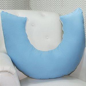 Almofada Amamentação - Azul com Branco