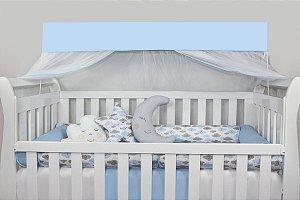 Kit Berço Roll 13 peças Com Mosquiteiro - Chuva de Benção Azul