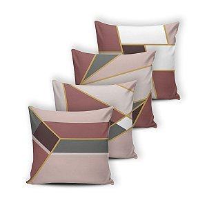 Kit 4 capas de Almofada Modern Print 42 cm x 42 cm - 038