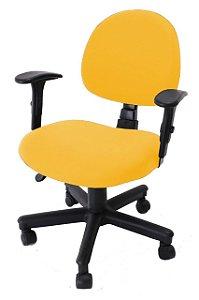 Capa De Cadeira Giratória de Escritório 1 Peça Amarela