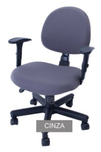 Capa De Cadeira Giratória de Escritório 1 Peça Cinza