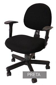 Capa De Cadeira Giratória de Escritório 1 Peça Preta
