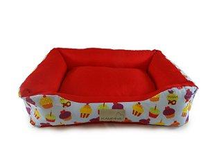 Cama Pet para Cachorro e Gato Dupla face Cupcake Tamanho M