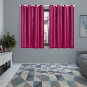 Cortina Blackout PVC prata com Voil 2,80 m x 1,60 m Pink