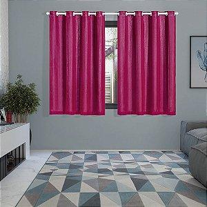 Cortina Blackout PVC prata com Voil 2,00 m x 1,40 m Pink