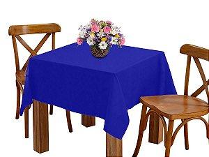 Toalha de mesa 4 Lugares 1,45m Quadrada Oxford  Azul Royal