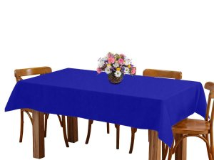 Toalha de mesa 6 Lugares 2,00m Retangular Oxford Azul Royal