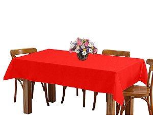 Toalha de mesa 6 Lugares 2,00m Retangular Oxford Vermelho