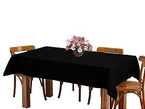 Toalha de mesa 6 Lugares 2,00m Retangular Oxford Liso Preto