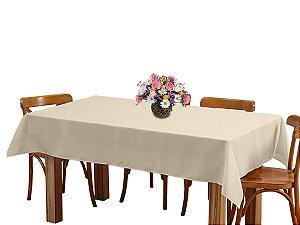 Toalha de mesa 6 Lugares 2,00m Retangular Oxford Liso Bege