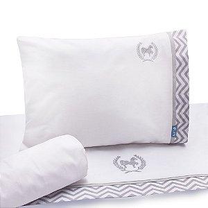 Jogo de Lençol de Berço 100% algodão Conforto Cavalinho