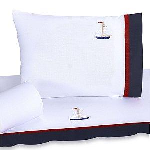 Jogo de Lençol de Berço 100% algodão Conforto Marinheiro