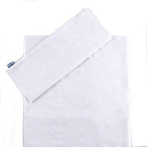 Jogo de Lençol de Berço 2 Peças Percal 100% algodão Branca