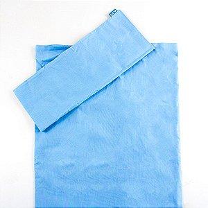 Jogo de Lençol de Berço 2 Peças Percal 100% algodão Azul