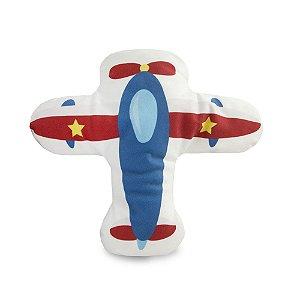 Almofada Infantil Suede Aviãozinho