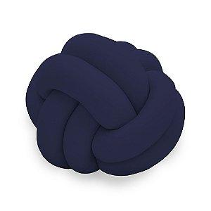 Almofada Infantil de Malha em Formato Nozinho Azul Marinho