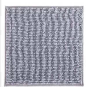 Tapete de Banheiro Antiderrapante Bolinha Microfibra Cinza