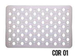 Tapete Para Box Banheiro Antiderrapante C/ Ventosas Transp.