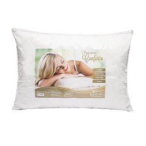 Travesseiro Soft Viagem Premium Silicone Branco 2 peças