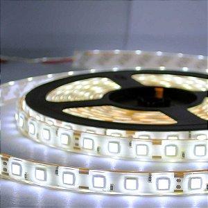Kit Fita LED Branco Frio 5050 IP65 com silicone 60 leds/metro - de 1m a 6m