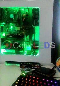 Fita Led Verde 5050 Computador Pc Molex