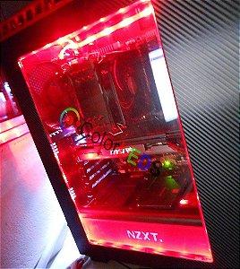 Fita Led Vermelho 5050 Computador Pc Molex