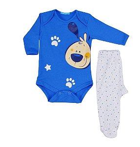 Conjunto de body manga longa e calça dog stars Get baby