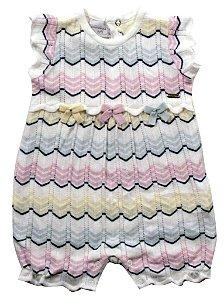 Macacão de tricô com listras Noruega