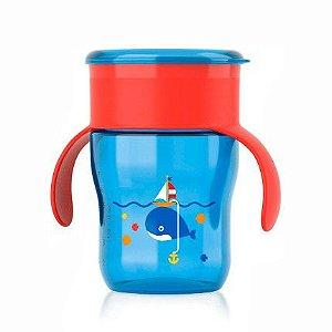 Copo mágico natural azul e vermelho 260ml Philips Avent