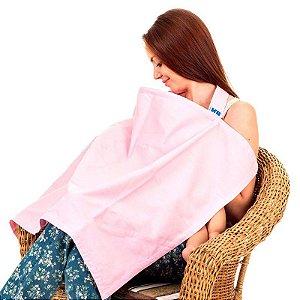 Capa de amamentação rosa Kababy