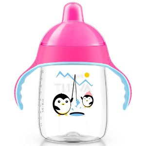 Copo treinamento pinguim 340ml rosa Philips Avent