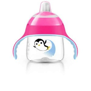 Copo treinamento pinguim 200ml rosa Philips Avent