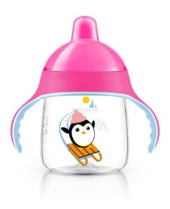 Copo treinamento pinguim 260ml rosa Philips Avent